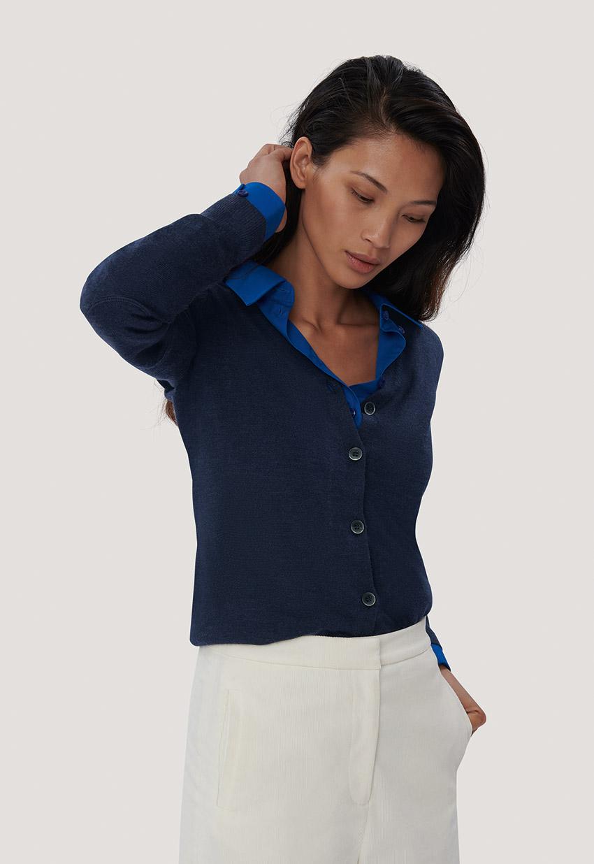 guter Verkauf kauf verkauf retro Women Cardigan Merino Wool Hakro Damen Merino Cardigan ...